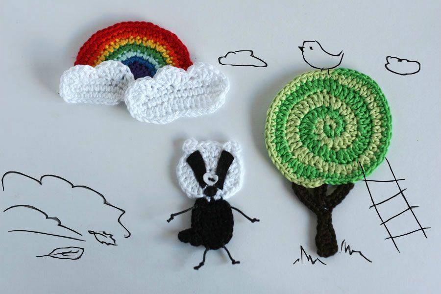 Crochet woodland etsy