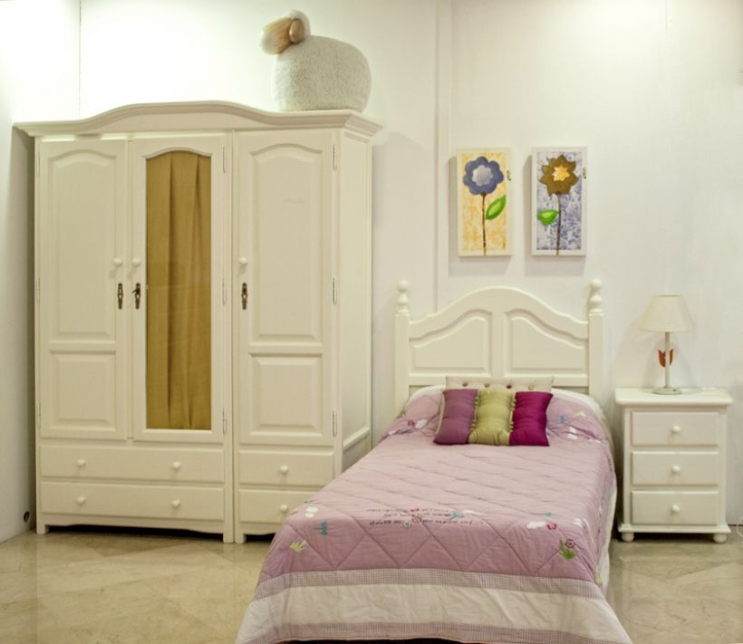 Juveniles de madera interesting dormitorio juvenil en madera blanco y lila with juveniles de - Dormitorios juveniles de madera maciza ...