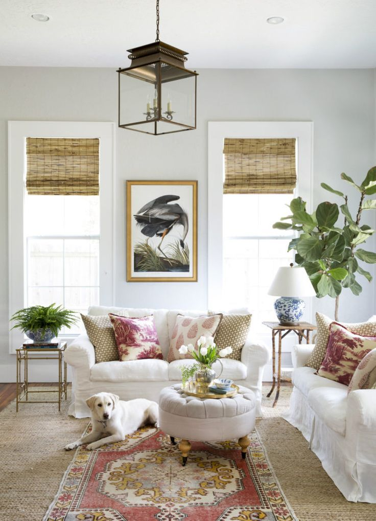 Country Living Feature The Back Story Www Hollymathisinteriors Com Bemz Slipcovers Bemzdesign Be Living Room White Country Chic Living Room Chic Living Room