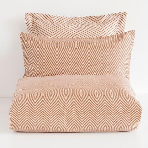 linge de lit diagonales satin linge de lit lit zara. Black Bedroom Furniture Sets. Home Design Ideas