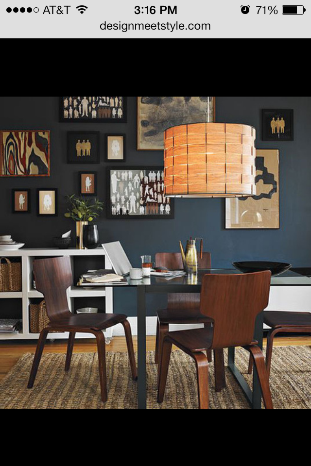 Benjamin Moore Wrought Iron Home Decor Interior Modern Dining Room