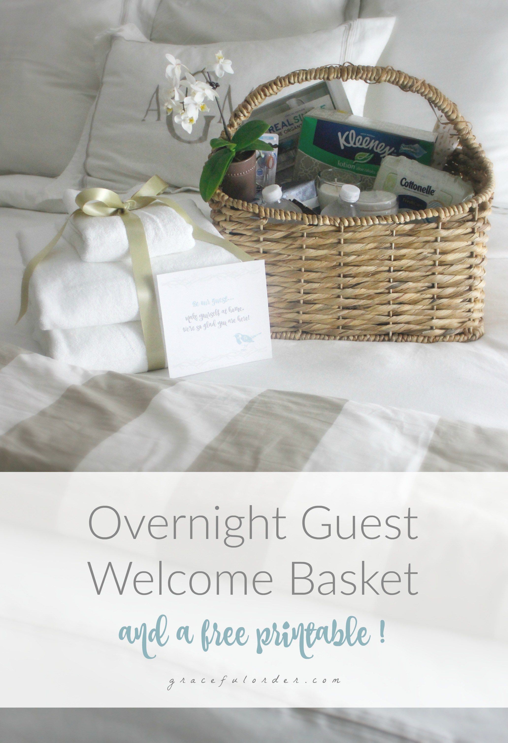 Overnight Guest Welcome Basket - Graceful Order | New home guest ...