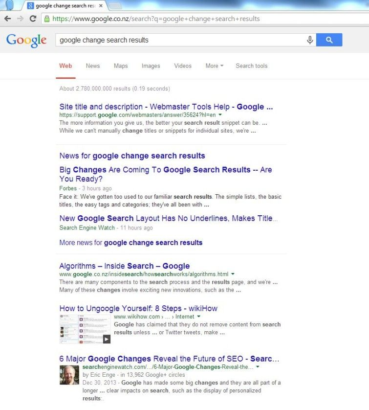 The new Google search results. Cleaner ... but kinda messier at the same time #google #web #seo