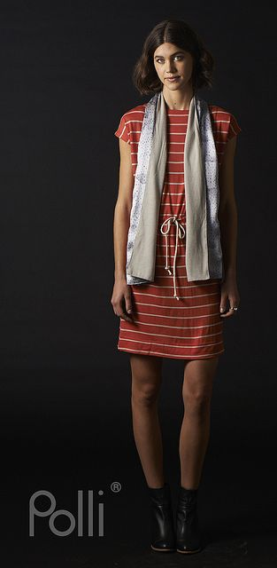 Polli new 100% Silk and Merino Scarves watercolour clouds and Merino tunic, koi