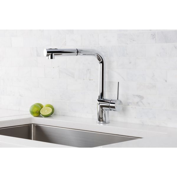 Hahn Silver Brass, Stainless Steel Ultra-Modern Duo Single Lever ...