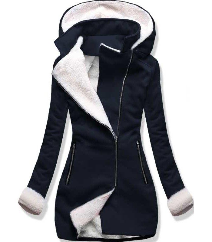 Dámsky kabát 8940 tmavo modrý