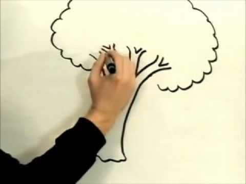 تعلم كيف ترسم شجرة بكل سهولة Youtube