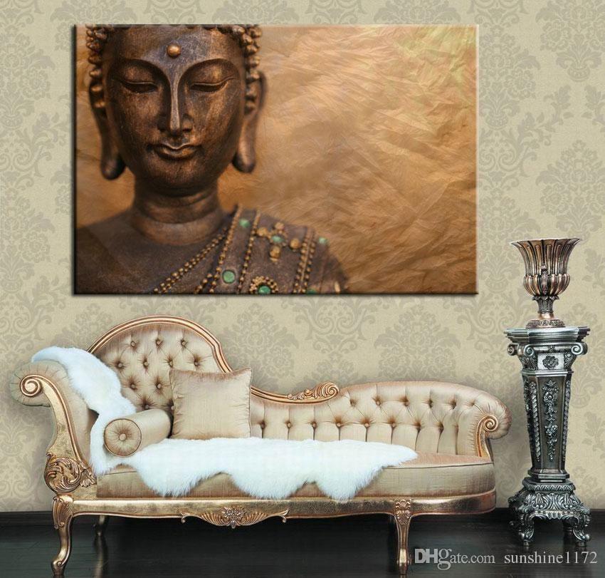 2021 No Frame Large Prints Painting Single Canvas Buddha Wall Art Decor Living Room Decoration One Panel 120cmx80cm From Sunshine1172 29 85 Dhgate Com Buddha Wall Art Decor Wall Art Decor Living