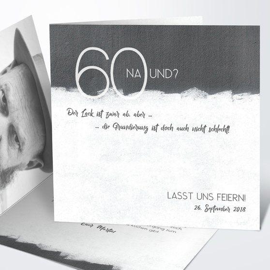 neuer anstrich 60 | geburtstagseinladungen, einladungen