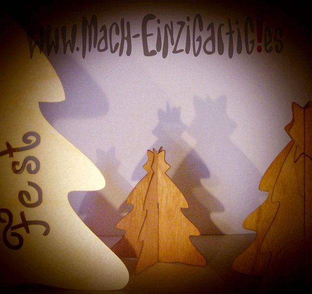 Weihnachtsdeko - Weihnachtsbaum in Echtholz-Furnier (DaWeihnachten) - ein Designerstück von Mach-Einzigartiges bei DaWanda