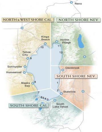 Map of Tahoe Beaches | Activities! | Pinterest | Lake tahoe, Beach ...