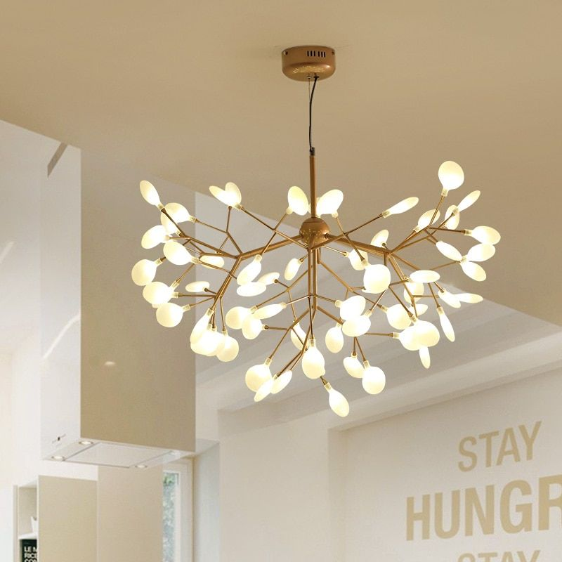 Nordic Postmodern Round Hanging Lights Acrylic Led Lamps For Home