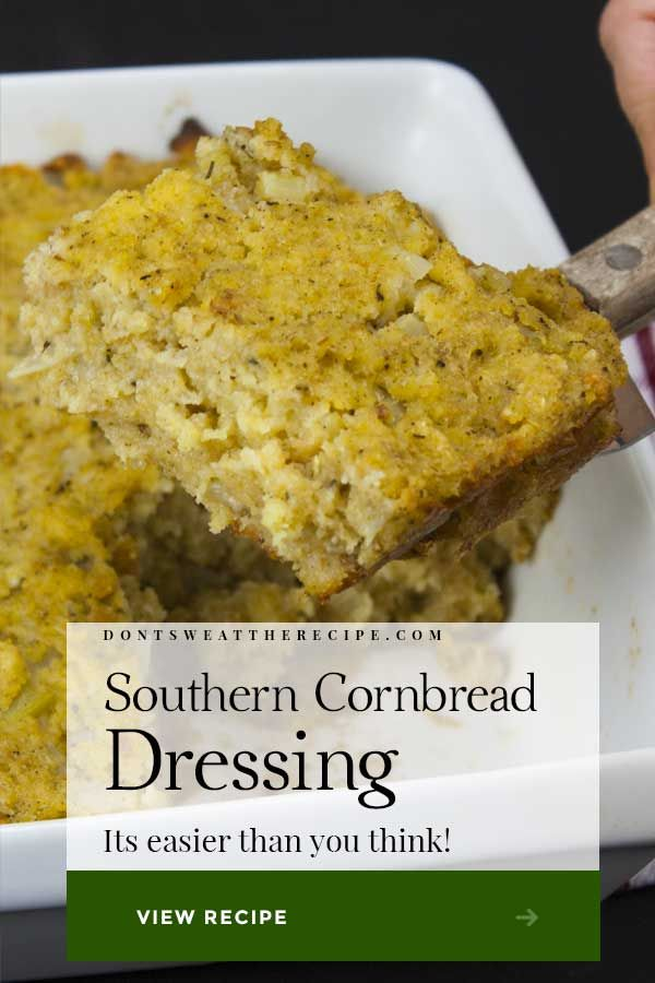 Southern Cornbread Dressing Recipe #cornbreaddressing