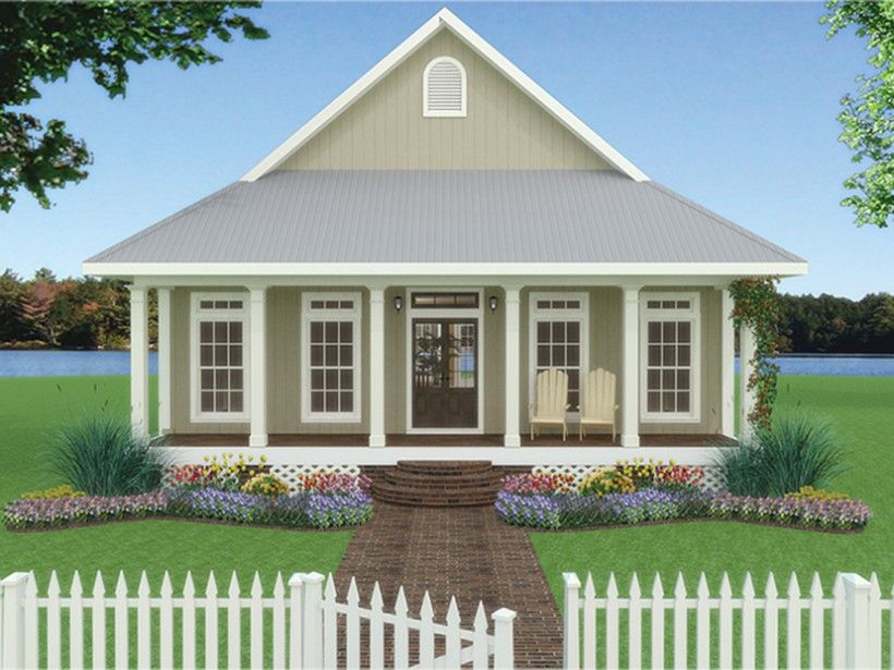 Cottage Style House Plan 2 Beds 2 Baths 1292 Sq Ft Plan