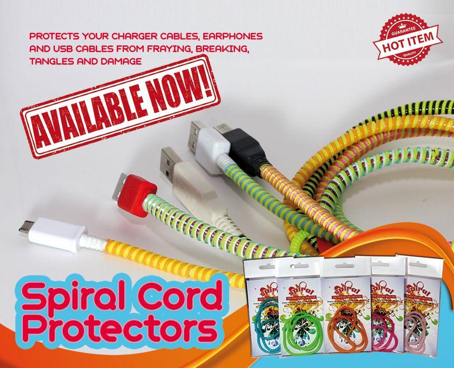 Spiral Cord Protectors Cord protector, Spiral, Cord