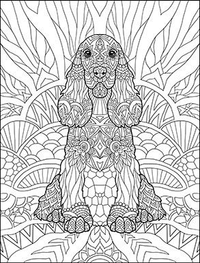 free printable dog coloring pages for adults | Doodle Dogs Coloring Book for Adults by Amanda Neel | Dog ...
