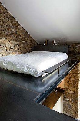 loft bedroom | misc bedrooms | Pinterest | Soppalco, Mansarda and ...