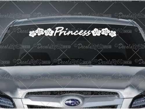Princess Hibiscus Flowers Windshield Decal Decal Car Window