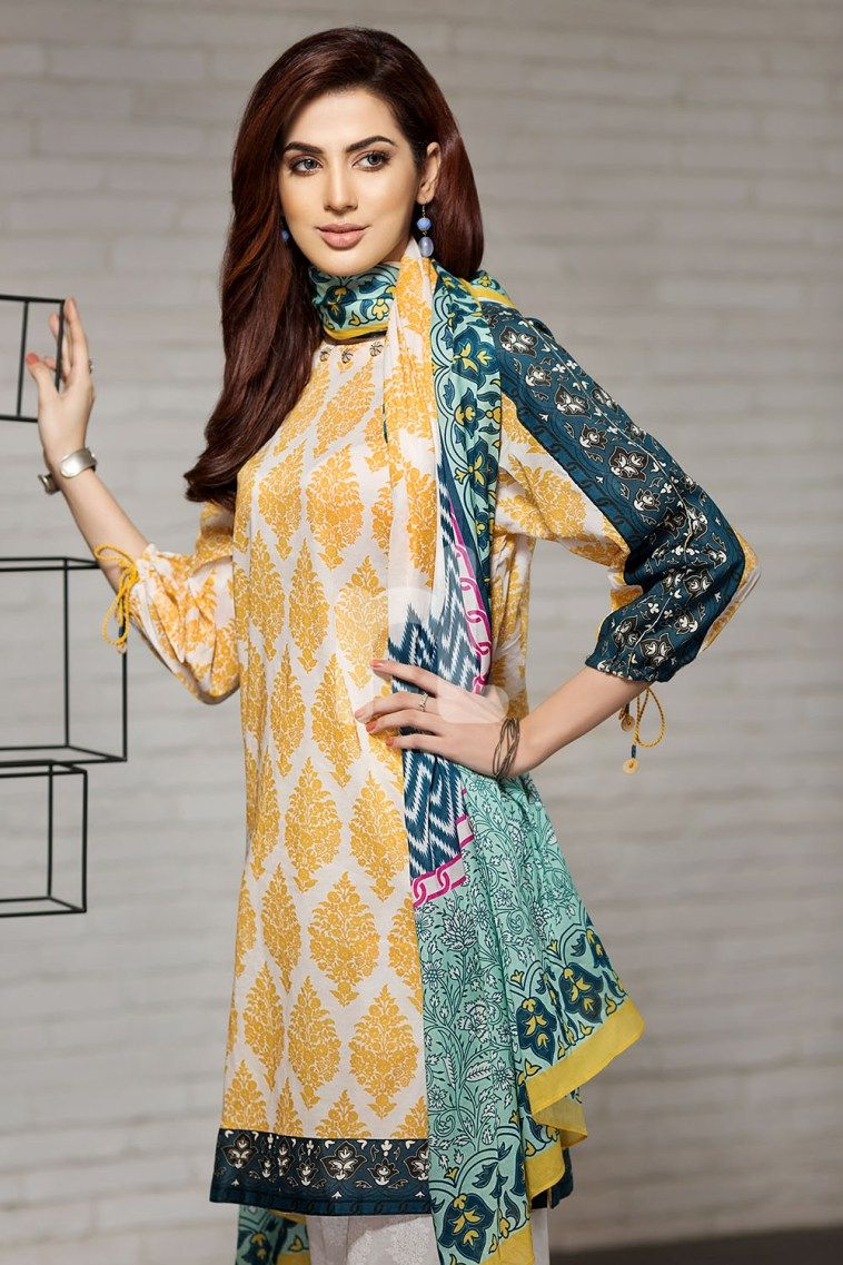 cc11499860 Buy this 3 piece lawn printed dress by Nishat Linen casual clothes 2018  available at a best price of pkr 1990