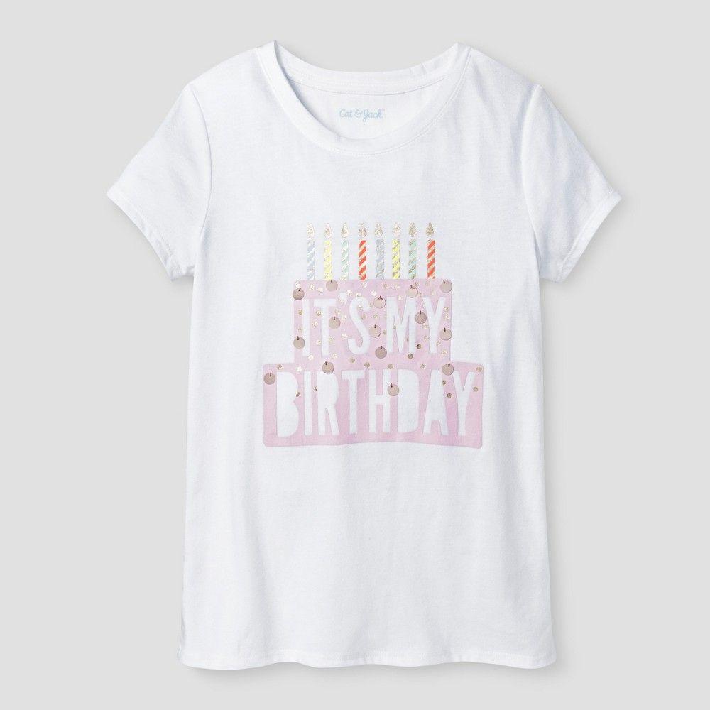 da80ef63b Girls' Birthday Graphic Tee Cat & Jack White XS, Girl's | Pinterest ...