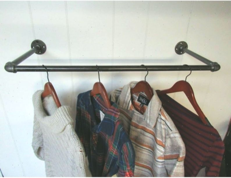 Wall Mounted Clothes Rack Clothing Hanger Garment Display Clothing Rack Clothes Hanger Industrial Clothing Rack