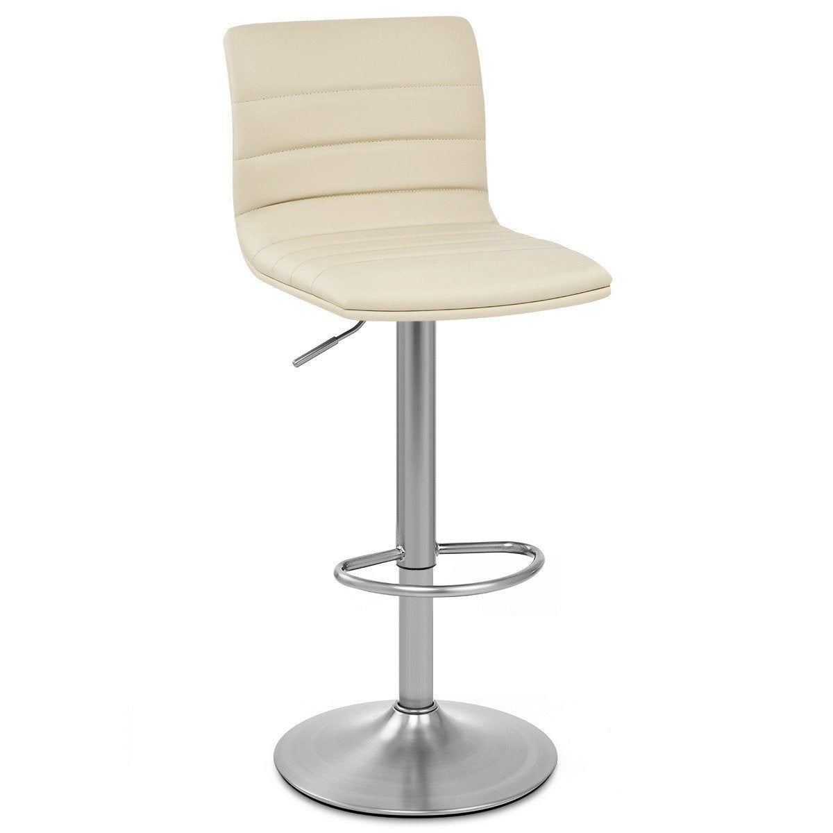 Tabouret De Bar Chic Simili Cuir Creme Linear Mdt Simili Cuir Bar Chic Et Tabouret