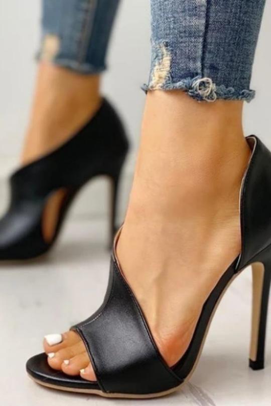 Women Fashion Sexy High Heels Stiletto Peep Toe Sandals Pumps Shoes