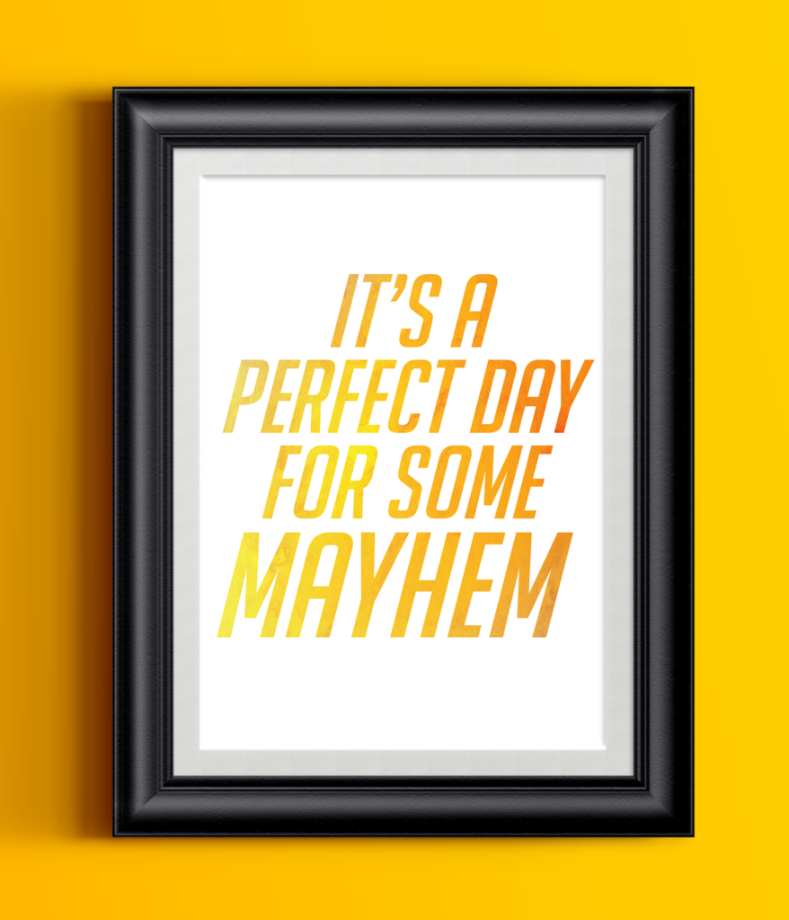 Overwatch Poster Junkrat It\'s A Perfect Day For Some Mayhem | Gamer ...