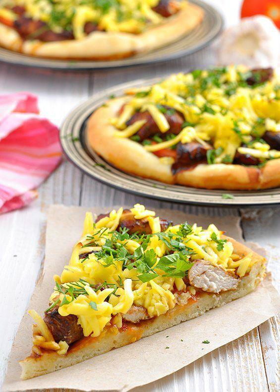 Pizza s kuracím marinovaným v sójovej omáčke