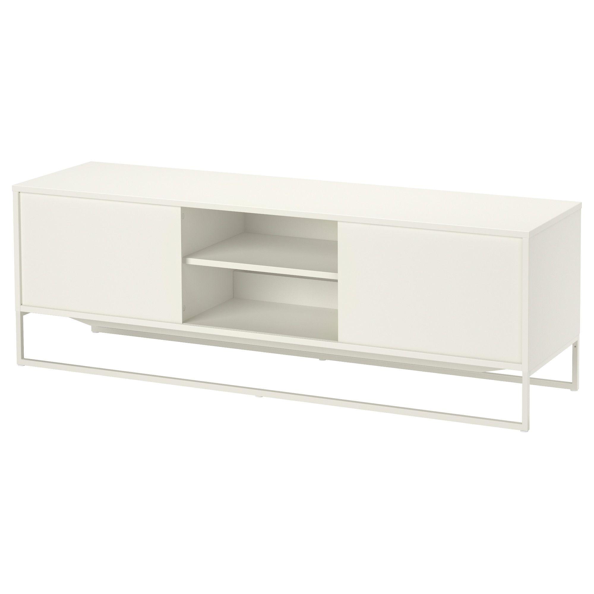 Buffet Blanc Ikea Ikea Ps Meuble Duangle Blancgris Ikea With  # Meuble Tv Scandinave Pied Metal Ikea