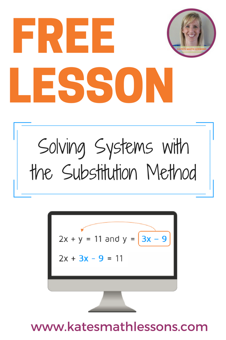 Solve A System Of Equations Using Substitution Pinterest Algebra