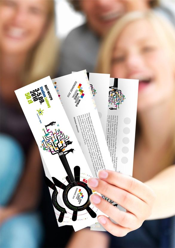 25 Awesome Examples Of Concert Ticket Designs Event ticket - How To Design A Ticket For An Event