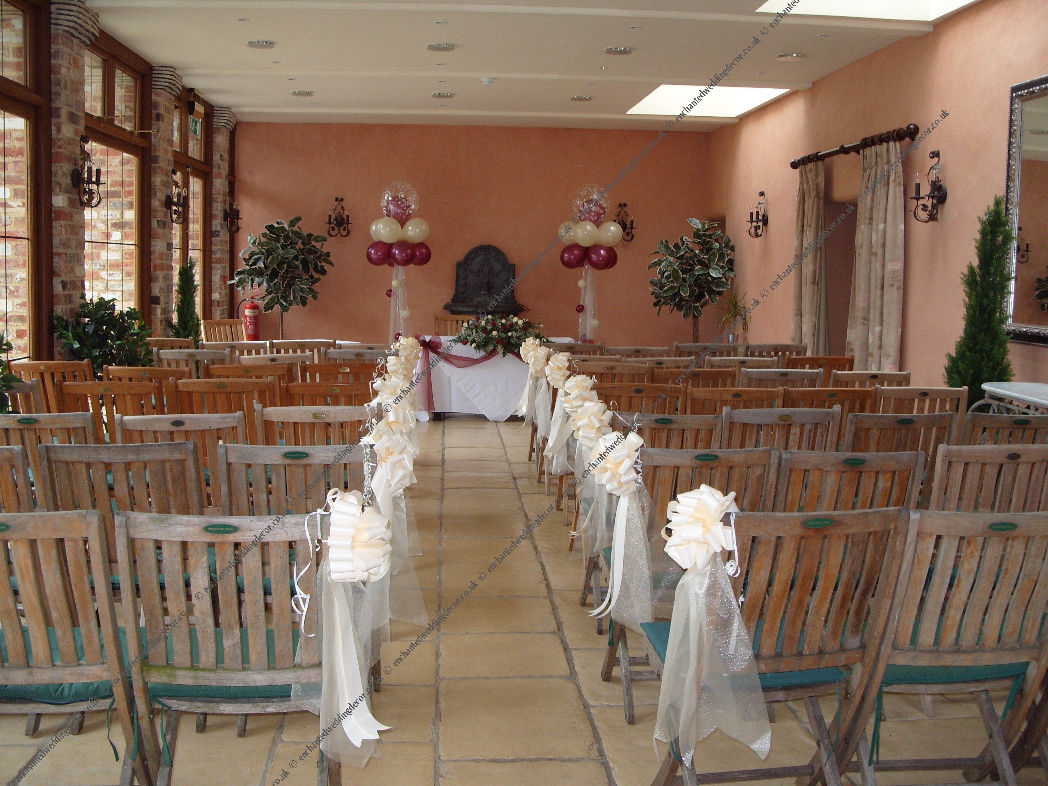 wedding church pew bows | ... to the back of the bow for hanging or ...