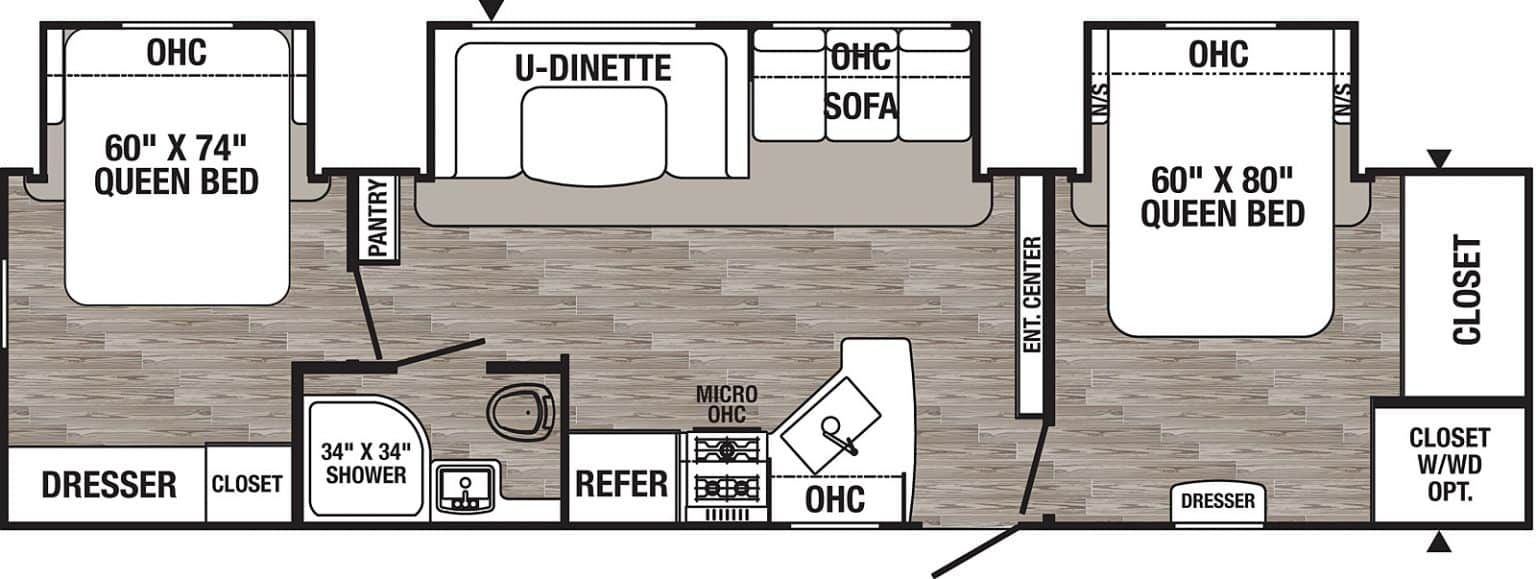 12 Best 2 Bedroom Travel Trailers Crow Survival In 2020 Travel Trailer Floor Plans Travel Trailer Travel Trailers For Sale