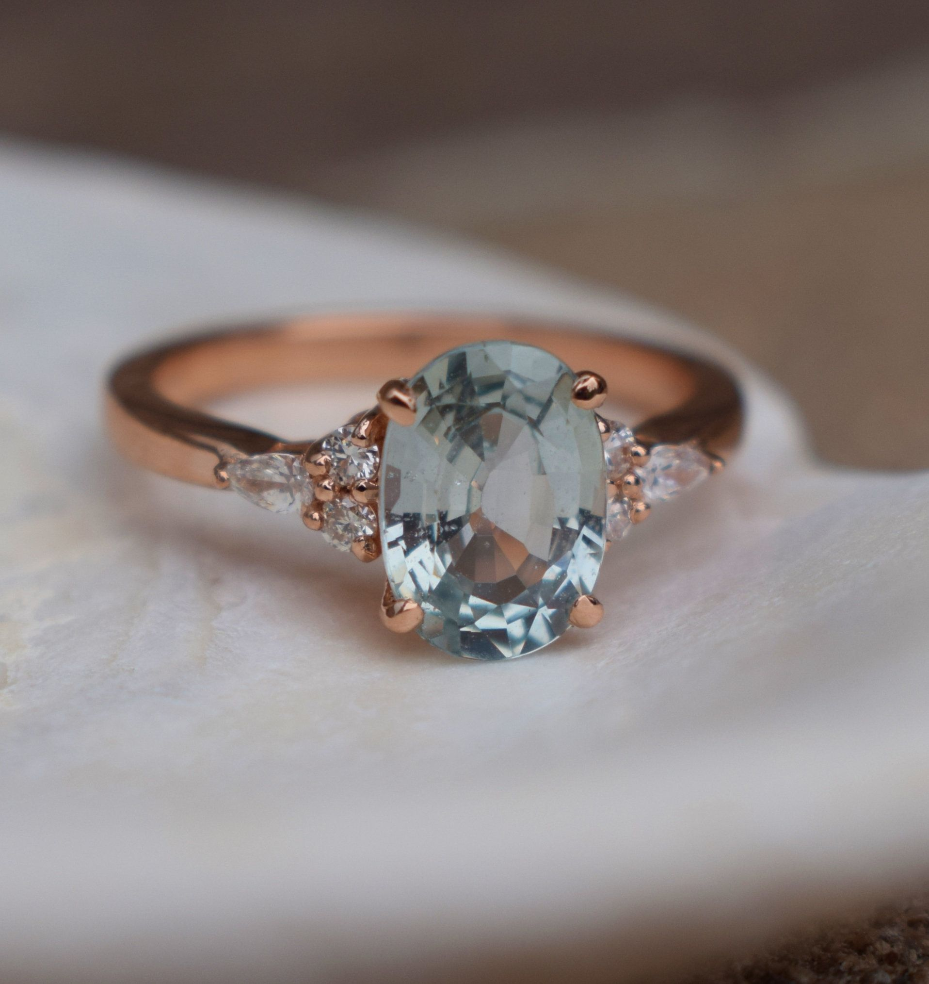 Mint Sapphire Engagement Ring Eidelprecious Campari Ring Light Blue Green Blue Engagement Ring Sapphire Engagement Ring Blue Blue Engagement Ring Aquamarines