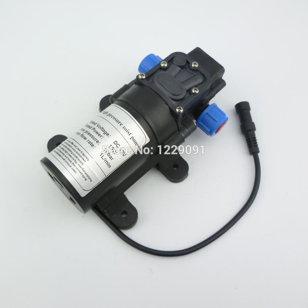 Return Valve Type 8bar 15w 1l Min Mini Dc 12v Electrical Diaphragm Pump High Pressure Water Mist Pump Fog Pump Misting Pump Diaphragm Pump High Pressure Mists