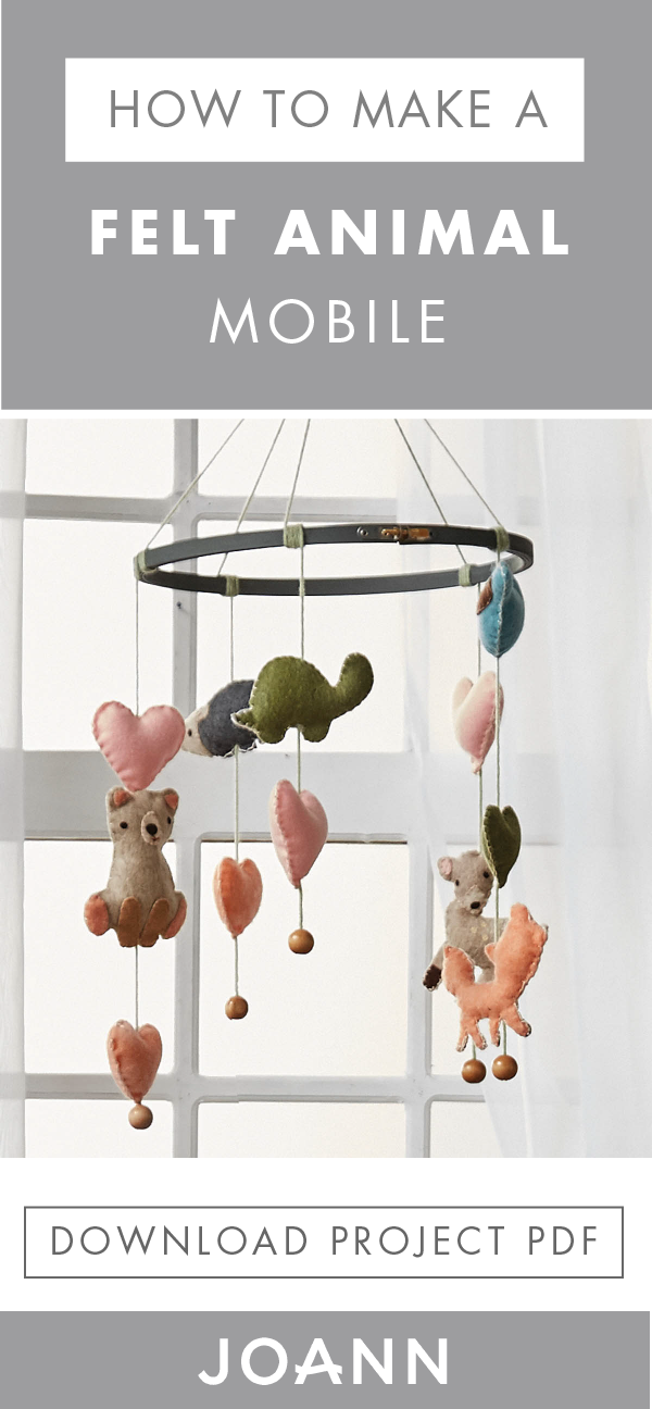 Decorate your nursery with the DIY of your dreams—this Felt Animal ...