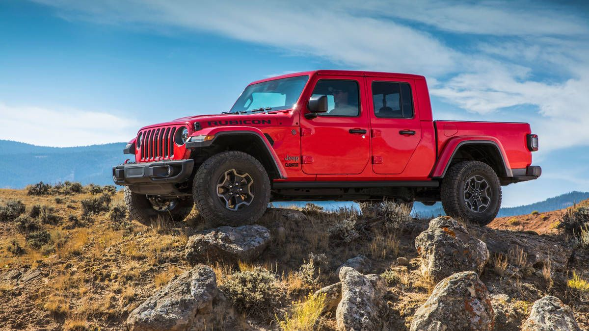 2020 Jeep Gladiator Pickup First Drive A Class Of One Jeep Gladiator Jeep Pickup Truck Pickup Trucks