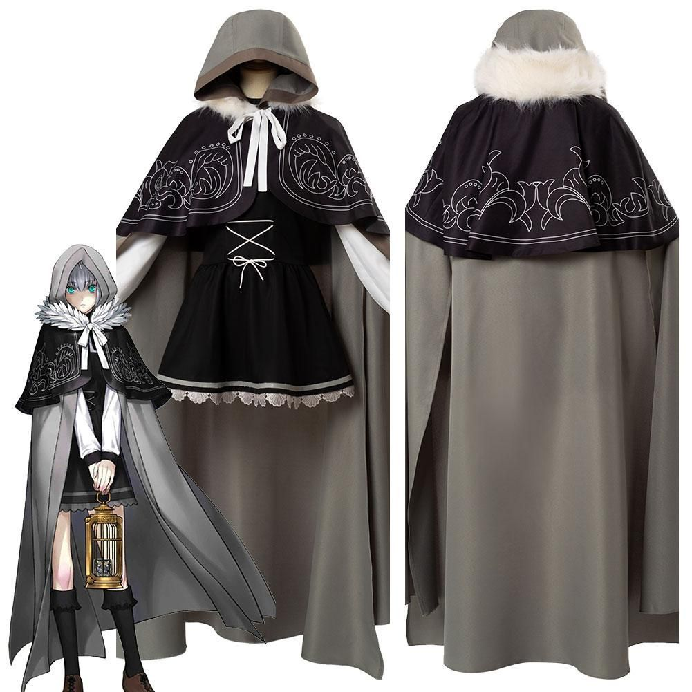 Fate//Grand Order FGO Gray Cosplay Costume Shawl Suit Full Set Uniform