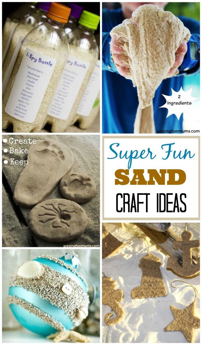 Sand Craft Ideas Beach Sand Crafts Sand Crafts Beach Crafts