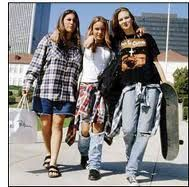 The grunge hype was a popular trend at the beginning of Rock and fashion style originating in seattle