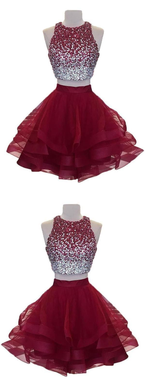 Homecoming Dress Short, Homecoming Dress Two Piece, Open ...