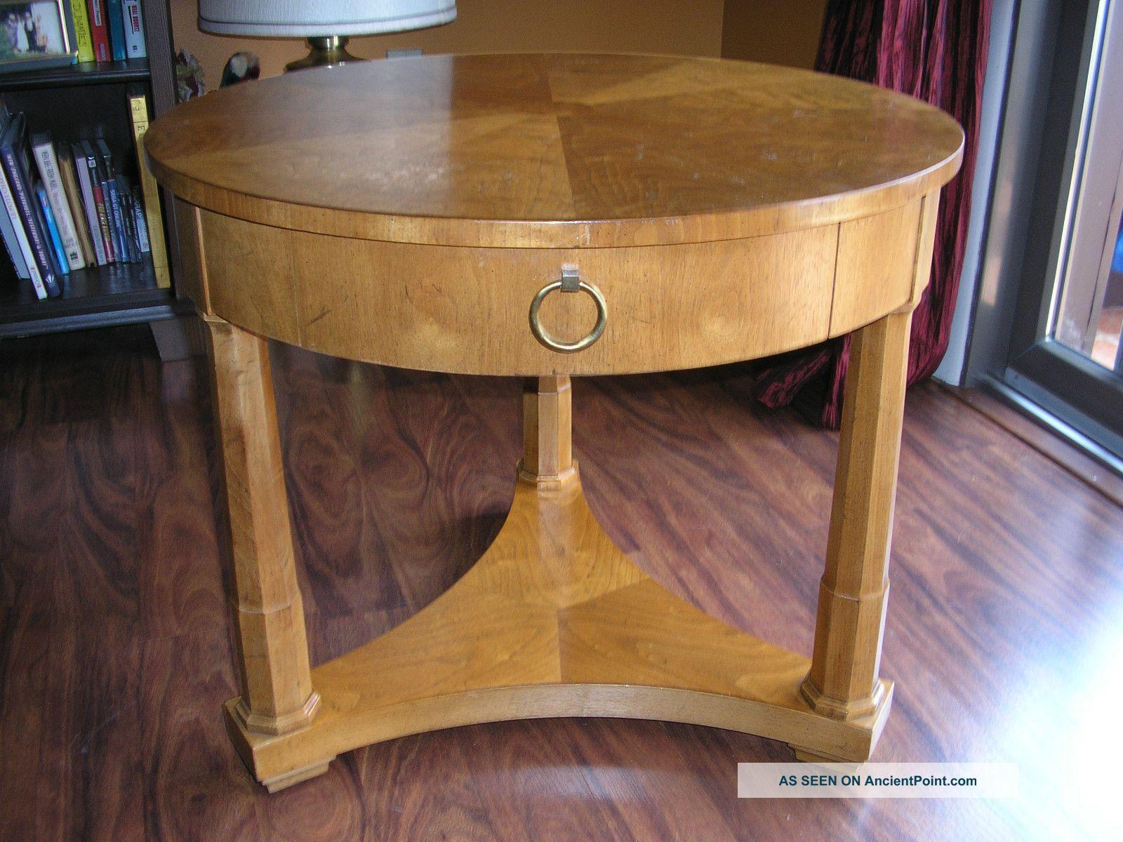 Vintage Milling Road Division Of Baker Furniture Round Side Table Single Drawer Round Side Table Side Table Baker Furniture [ 1200 x 1600 Pixel ]