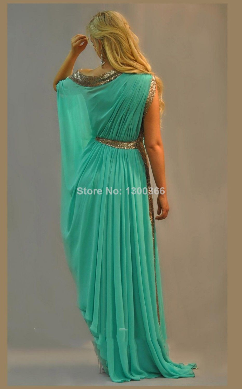 2014 Custom Made All Color Sequin Beading A Line Scoop Abaya Kaftan ...