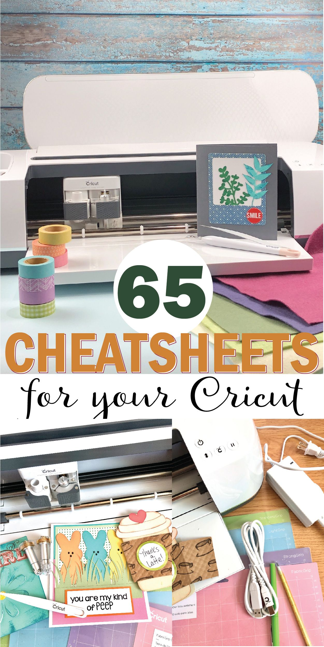 Printable Cheat Sheets for Your Cricut Machine