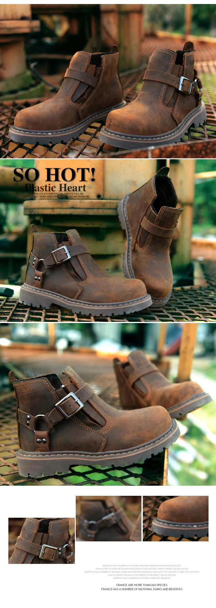 fall new england lun mading soled boots lesbian boots tooling