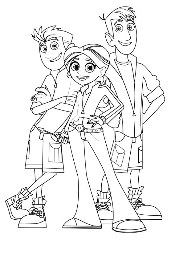 print coloring image   wild kratts party   Pinterest