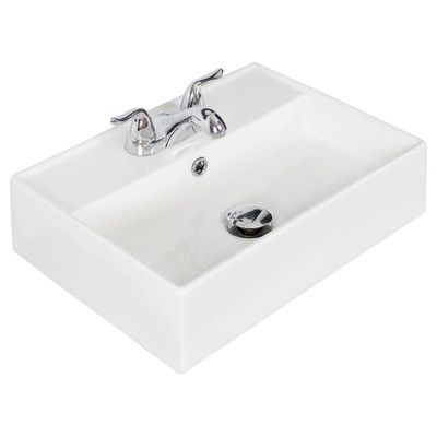 American imaginations wall mounted rectangle bathroom sink  reviews wayfair also ceramic mount with overflow