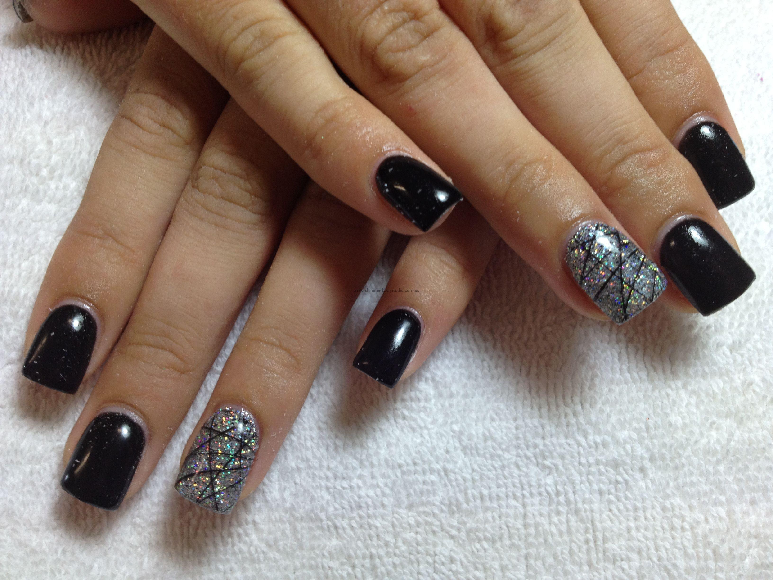 Nails inc gel nail colors and gel nail polish on pinterest - Gel Nails Black Nails Glitter Nails Konad Stamping Nail Art