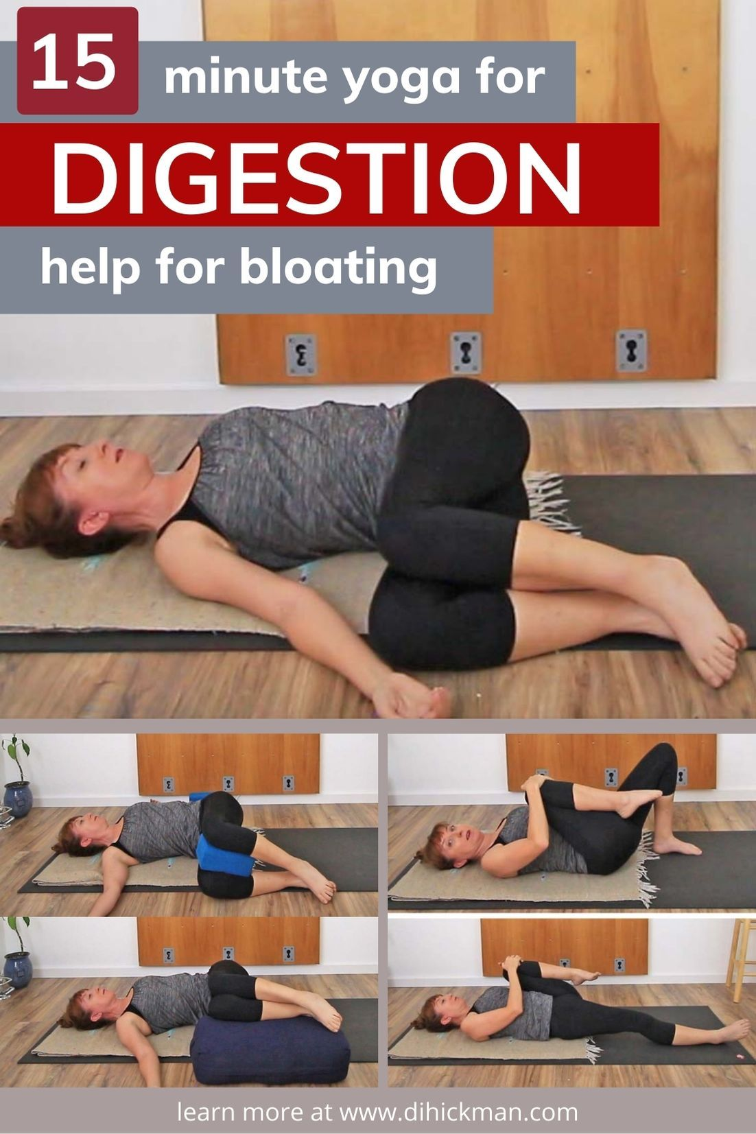15 Minute Yoga For Digestion In 2021 Yoga Poses Relieve Gas And Bloating Yoga